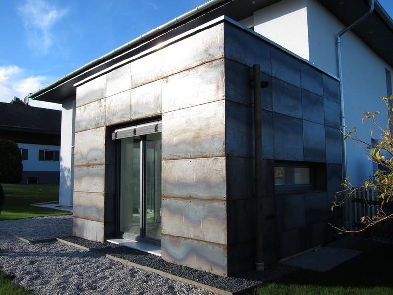 Kunst Und Bauschlosserei Haseneder Cortenstahl Fassade